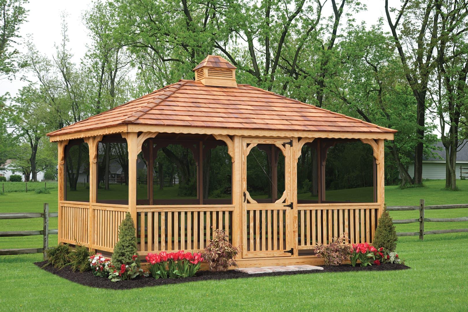 Pa Amish Gazebos Custom Backyard Structures In Lehigh