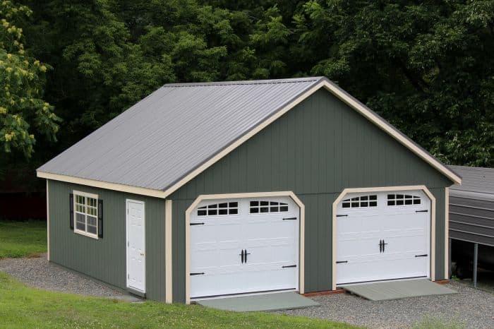 Pa Two Story Garage Custom Amish Built Near Lehigh